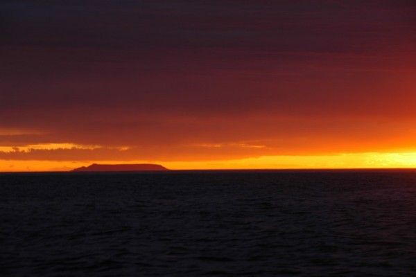 About 0300 local time,July 4th 2008. Sledge Island as we sailed into Nome.