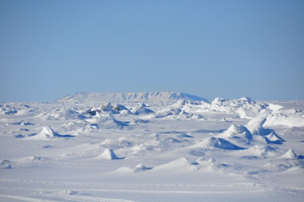 Sledge Island, March 9th 2011, from about the same spot. Longer lens, so it looks closer.